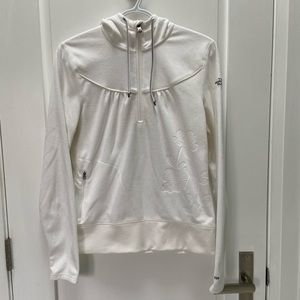 The North Face white fleece 3/4 zip sweater size M